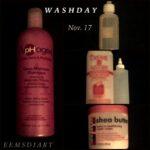 Wash day 17 November '13
