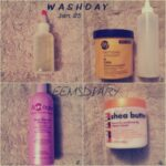 Wash day 25 January '14