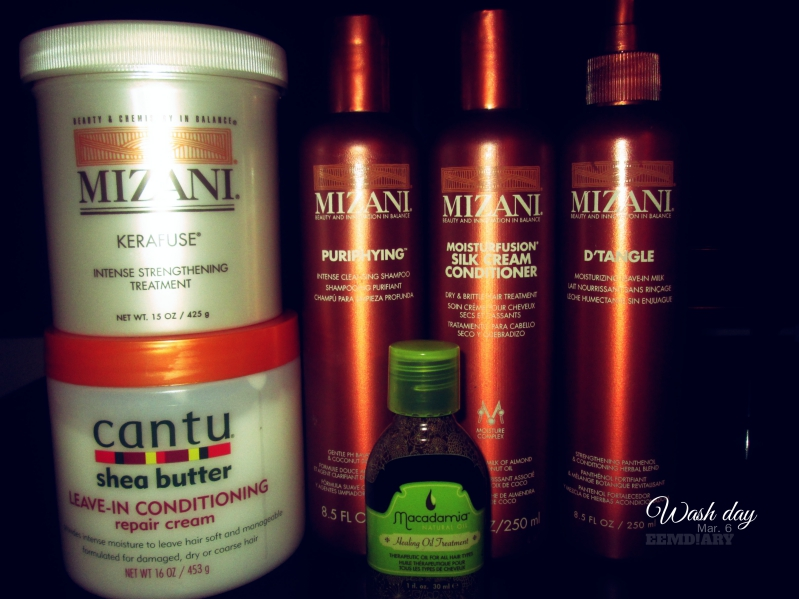 2016.03.06 wash routine for relaxed hair