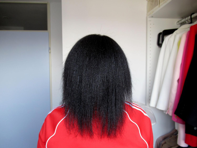 cut relaxed hair